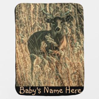outdoorsman wilderness Camouflage whitetail deer Baby Blanket