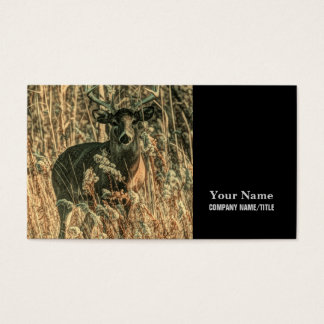 outdoorsman wilderness Camouflage whitetail deer Business Card