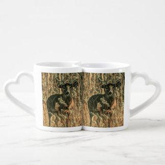 outdoorsman wilderness Camouflage whitetail deer Coffee Mug Set