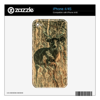 outdoorsman wilderness Camouflage whitetail deer Skins For The iPhone 4