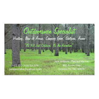 Outdoorsmen Card Double-Sided Standard Business Cards (Pack Of 100)
