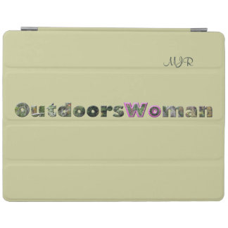 OutdoorsWoman in Camo Text w/pink iPad Cover