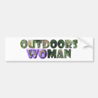 OUTDOORSWOMAN w/Purple Accent Bumper Sticker