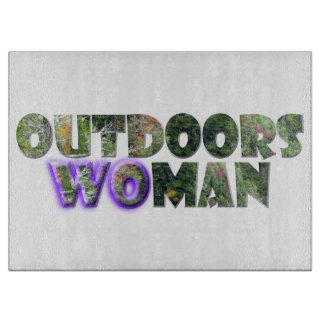 OUTDOORSWOMAN w/Purple Accent Cutting Boards