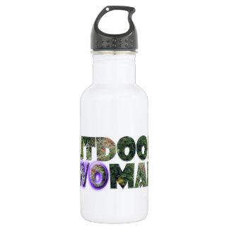 OUTDOORSWOMAN w/Purple Accent 18oz Water Bottle