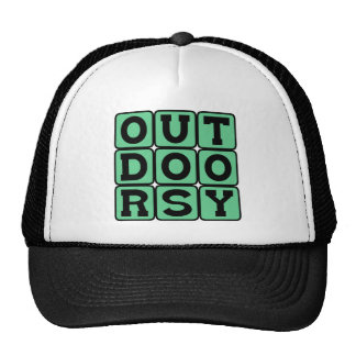 Outdoorsy, Camper, Hiker, or Backpacker Trucker Hat