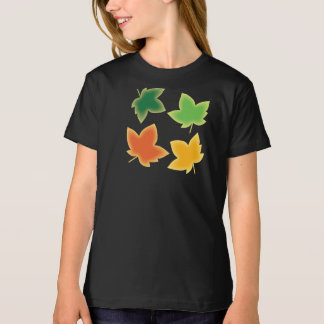 Outdoorsy Gal Autumn Colors Maple Leaf Pattern T-Shirt