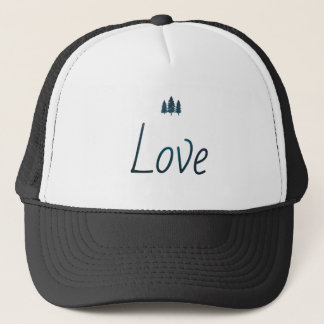 outdoorsy love graphic trucker hat