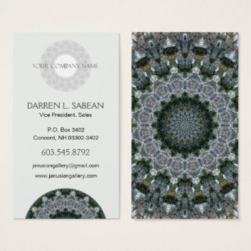 Professional Business Outdoorsy Rocky Point Mandala Business Card