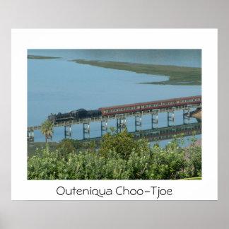 Outeniqua Choo-Tjoe Steam Train on Knysna Bridge P Poster