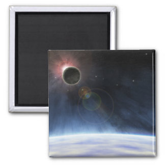 Outer Atmosphere of The Planet Earth 2 Inch Square Magnet