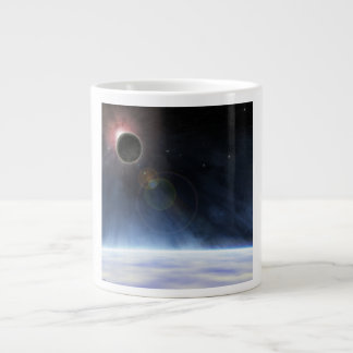 Outer Atmosphere of The Planet Earth Large Coffee Mug