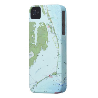 Outer Bank Map iPhone 4 Case