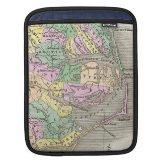 Outer Banks and Eastern North Carolina Map (1827) iPad Sleeve