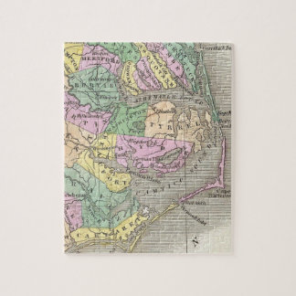 Outer Banks and Eastern North Carolina Map (1827) Jigsaw Puzzle
