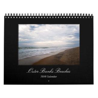 Outer Banks Beaches 2016 Calendar by Erin Mac