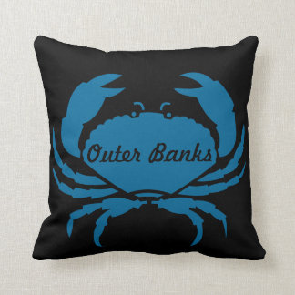 Outer Banks Blue Crab Throw Pillow