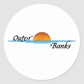 Outer Banks Classic Round Sticker