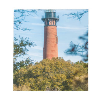 outer banks currituck island lighthouse note pad