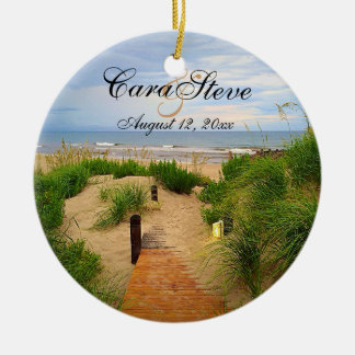Outer Banks Dunes Bride and Groom Ornament