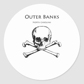 Outer Banks Jolly Roger Round Stickers