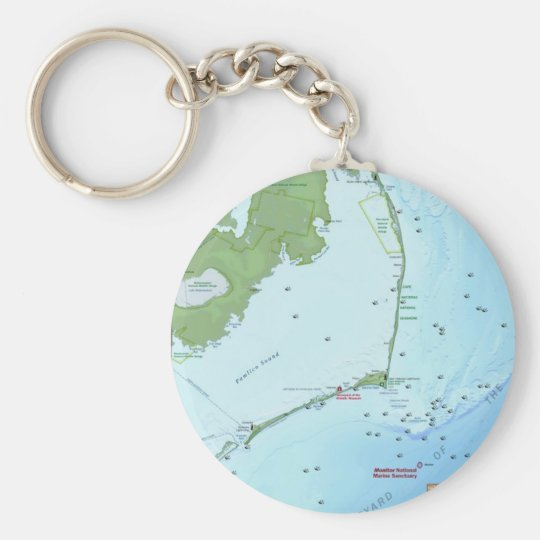 Outer Banks Map Keychain