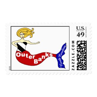 Outer Banks Mermaid Stamp