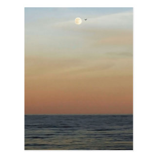 Outer Banks Moonrise Postcard