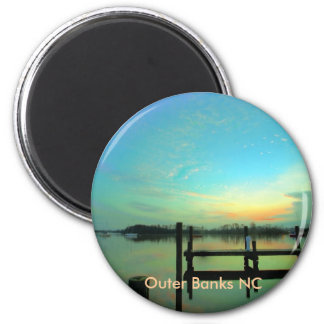 Outer Banks NC 2 Inch Round Magnet