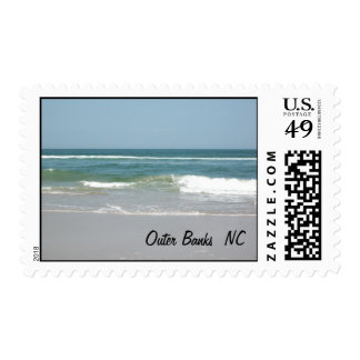 Outer Banks NC POSTAGE STAMP Beach Ocean Sellos