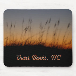Outer Banks NC Sea Oats and Dunes at Sunset Mouse Pad