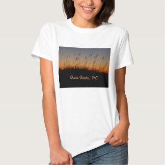 Outer Banks NC Sea Oats and Dunes at Sunset T Shirt