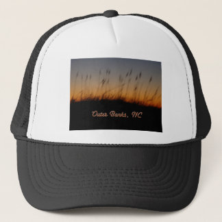 Outer Banks NC Sea Oats and Dunes at Sunset Trucker Hat