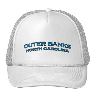 Outer Banks North Carolina Arch Text Logo Trucker Hat