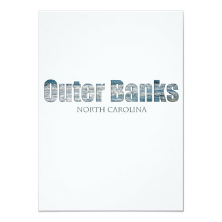 "Outer Banks North Carolina 4.5"" X 6.25"" Invitation Card"