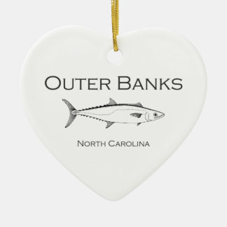 Outer Banks North Carolina King Mackerel Ceramic Ornament