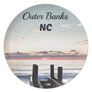 Outer Banks, North Carolina Melamine Plate