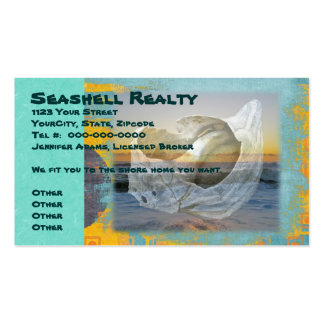 Outer Banks North Carolina Seashell Surf Business Card