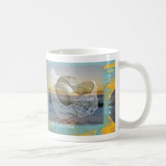 Outer Banks North Carolina Seashell & Surf Coffee Mug