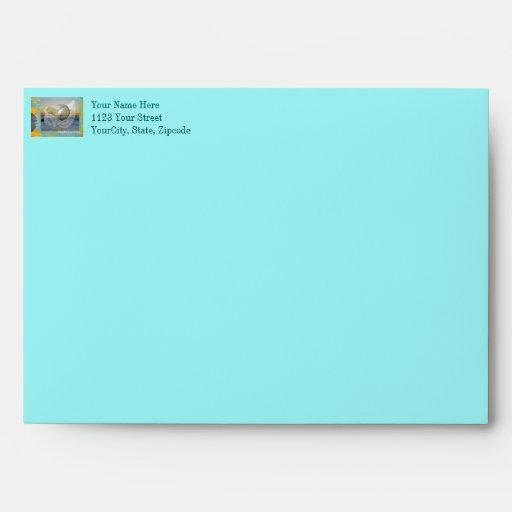 Outer Banks North Carolina Seashell & Surf Envelope