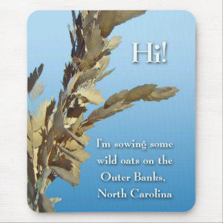 Outer Banks North Carolina Wild Oats Mouse Pad