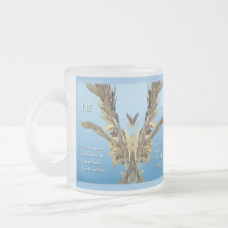 Outer Banks North Carolina Wild Oats 10 Oz Frosted Glass Coffee Mug
