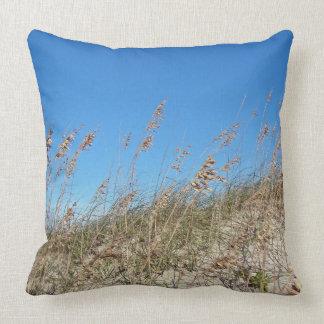 Outer Banks North Carolina Wild Oats Sea Oats Throw Pillow