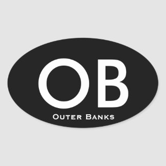 Outer Banks - oval sticker
