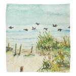 Outer Banks Sand Dunes and Seagulls Bandana