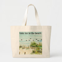 Outer Banks Sand Dunes and Seagulls Canvas Bag