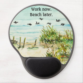 Outer Banks Sand Dunes and Seagulls Gel Mouse Pad
