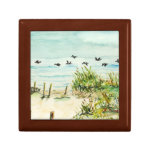 Outer Banks Sand Dunes and Seagulls Jewelry Box