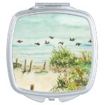 Outer Banks Sand Dunes and Seagulls Makeup Mirrors