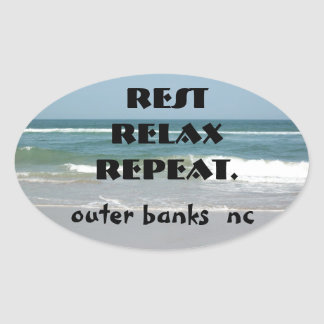 OUTER BANKS STICKER OVAL rest releax repeat
